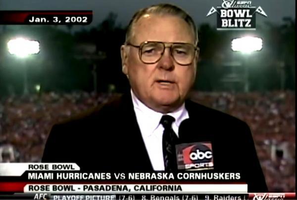 Rose Bowl 2002 Curt Gowdy Canes vs Nebraska